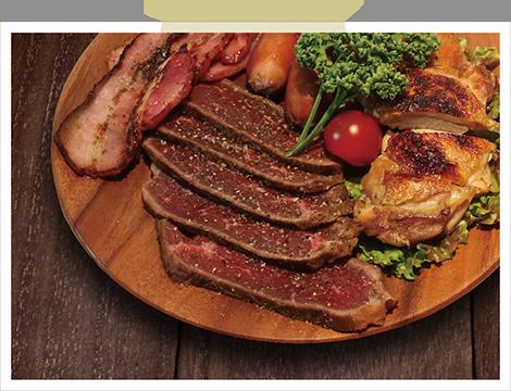 福舎のビストロ肉 4種盛り合わせ